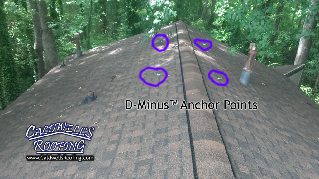 Multiple D-Minus™ Anchor Points, Spaced at OSHA-Approved Max Interval of 12'