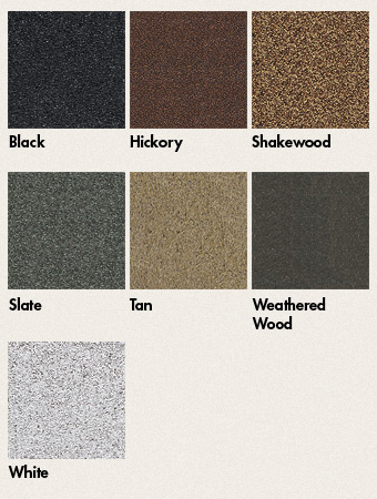 Colors for GAF's Liberty Roll Roofing