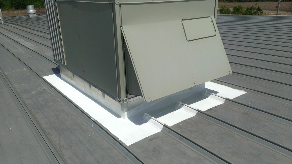 Commercial Metal Roof Repairs Made Possible by Sure Coat Product