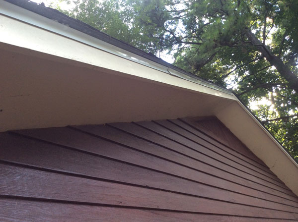 Drip Edge Is the Shiny White Metal Piece Just Below the Shingles