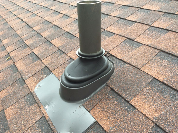 Finished Picture of Roofing Boot & GAF ShingleMatch™ Roof Accessory Paint on Pipe