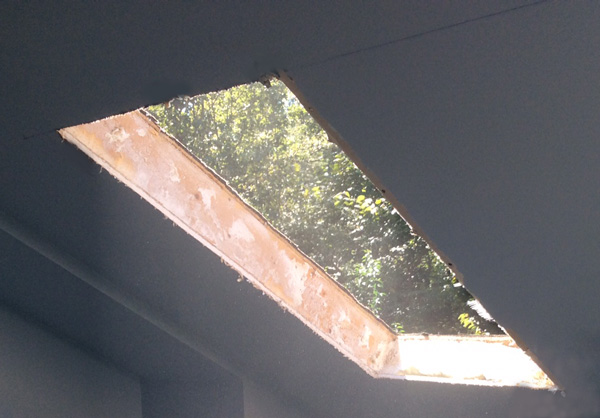 Cutting Out Hole for Skylight Installation