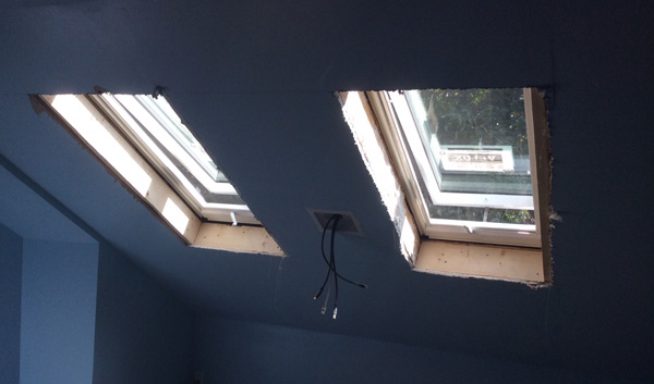 "Skylights Can Be Fixed, Vented (""Openable,"" As Here), And/Or Have Blinds Options"