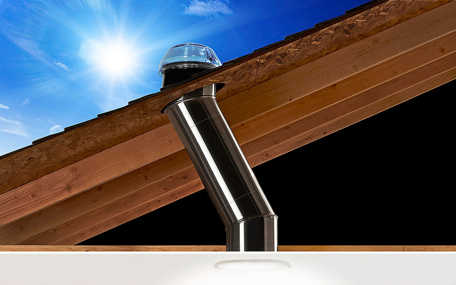 Solar Tube Style Skylight Brings Natural Light into Your Home