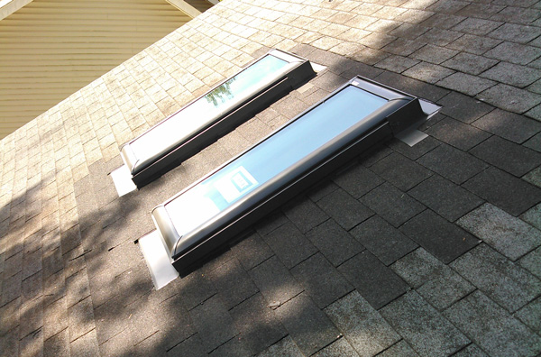 Two Finished Velux Skylights by Skylight Contractor Caldwell's Roofing