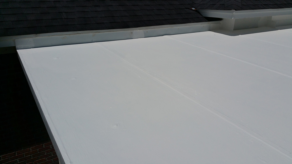 Repairing a Flat Roof with GAF TopCoat - Showing Finished Roof After Two Coats of GAF Membrane TopCoat