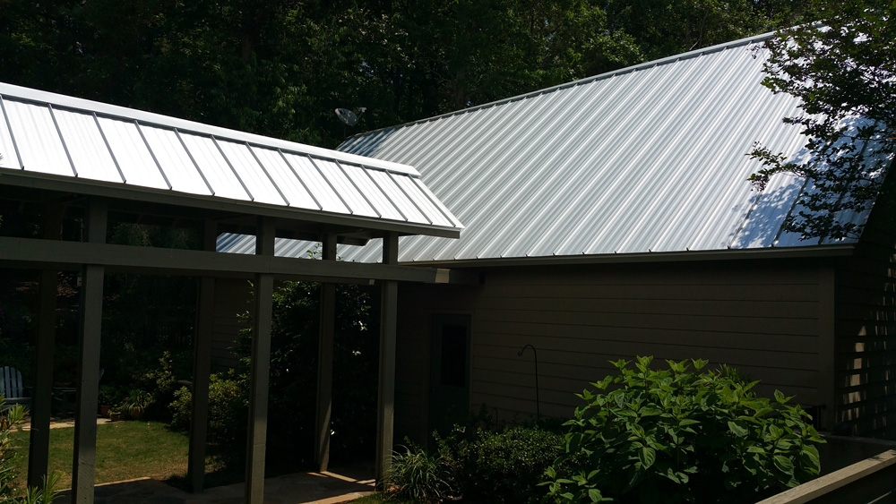 Completion of Standing Seam Metal Roofing Installation - Second View