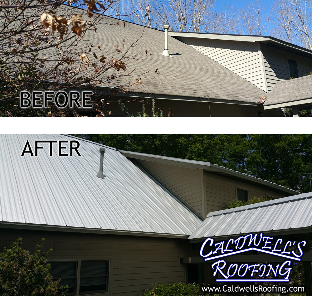 Standing Seam Metal Roofing - Before and After