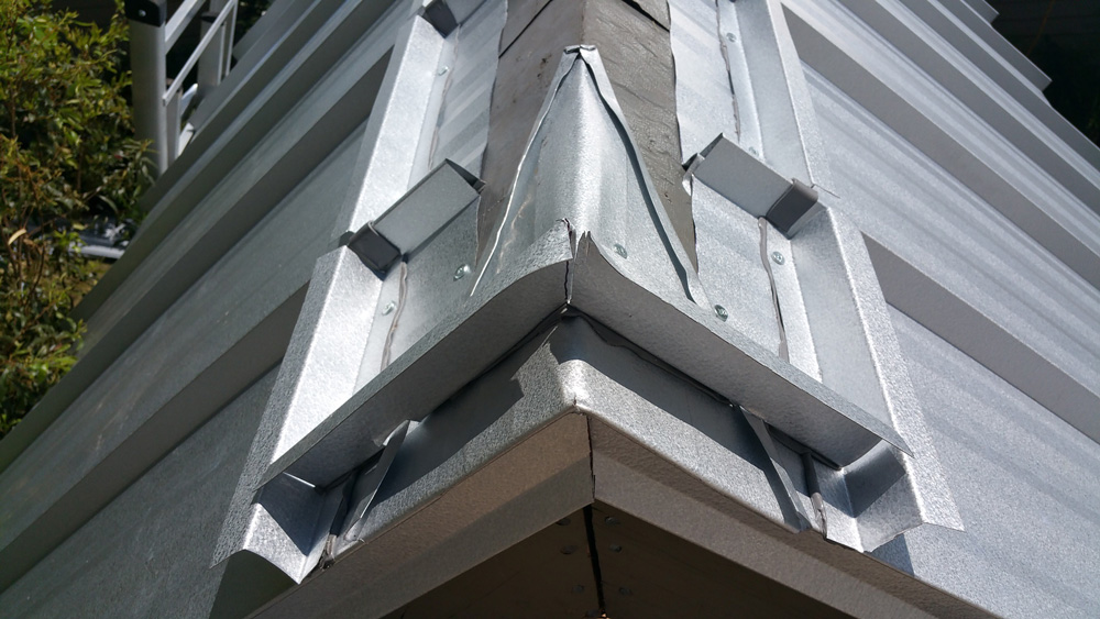 Standing Seam Metal Roof Gable End Caps