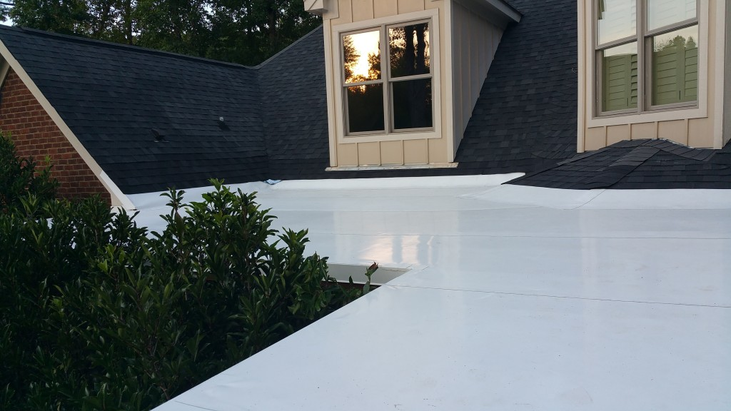 Completed TPO Roof on a Residential Property