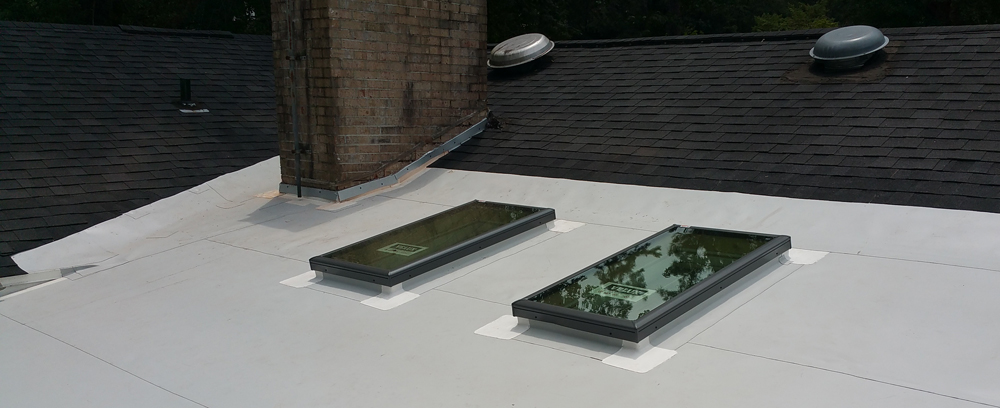 Velux Curb Mounted Skylight on TPO Roof