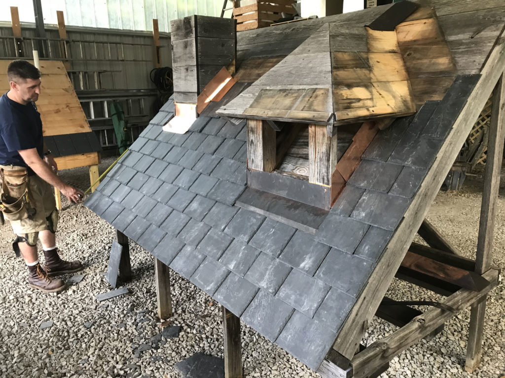 Slate Roof Mock Up at 2018 SRCA Expo