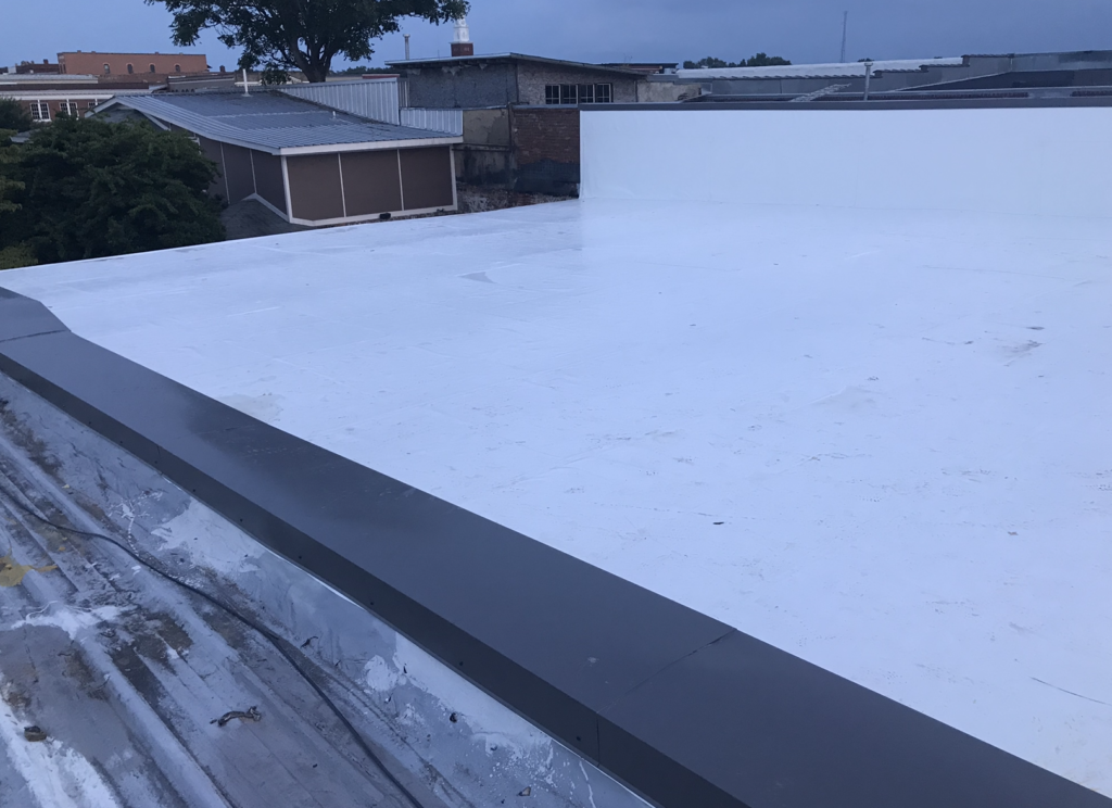This 50-Square IB PVC Roof Came with a 25-yr NDL Warranty